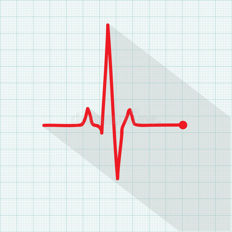 Vector pulse icon isolated over cardiogram grid vector illustration