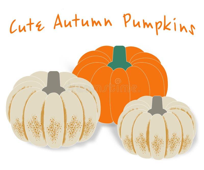 Vector pumpkins. Pumpkin illustration royalty free stock photo