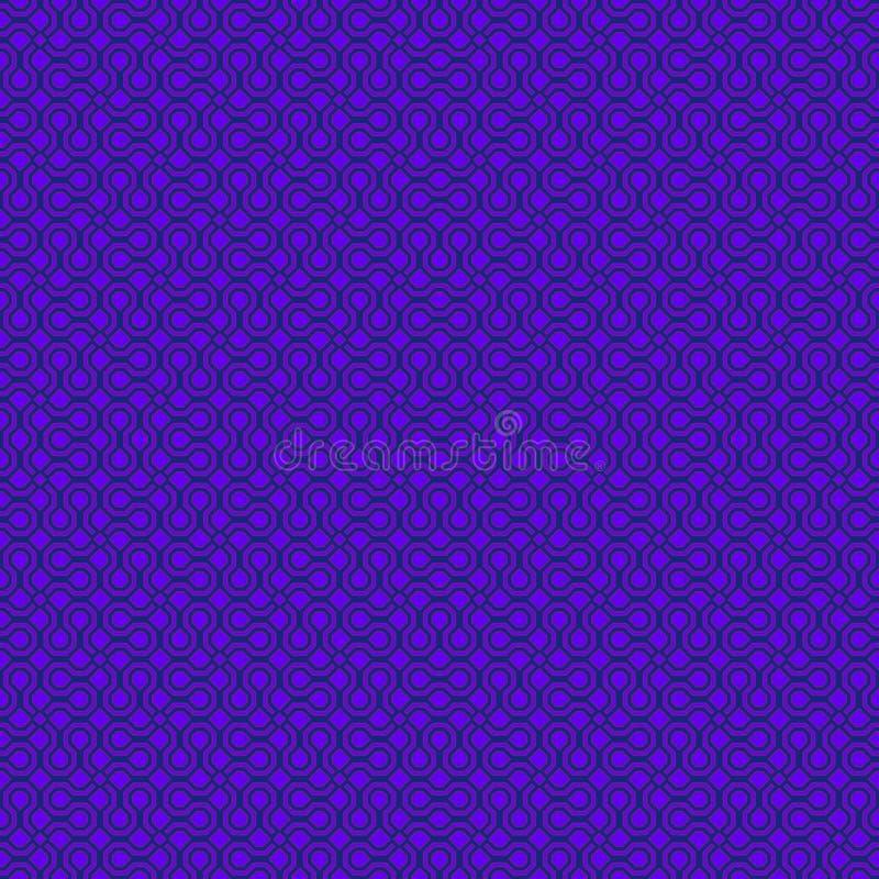 Vector purper violet abstract geometrisch naadloos patroon voor achtergronden, verpakt document, stoffendrukken en diverse opperv royalty-vrije illustratie