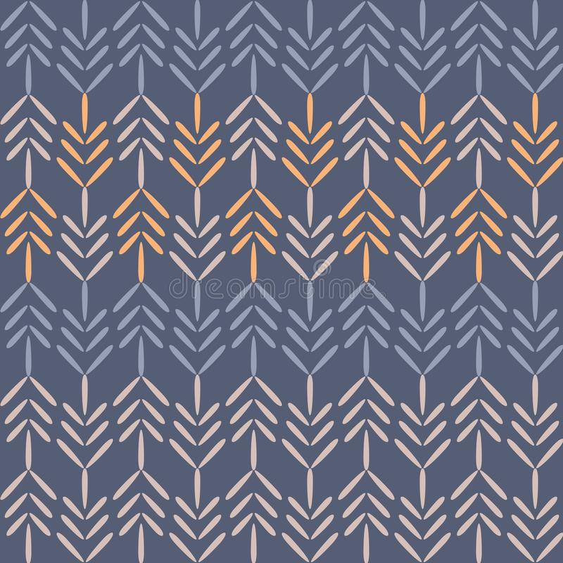 Vector Purple Woodland Chevron Seamless Pattern Background. vector illustration