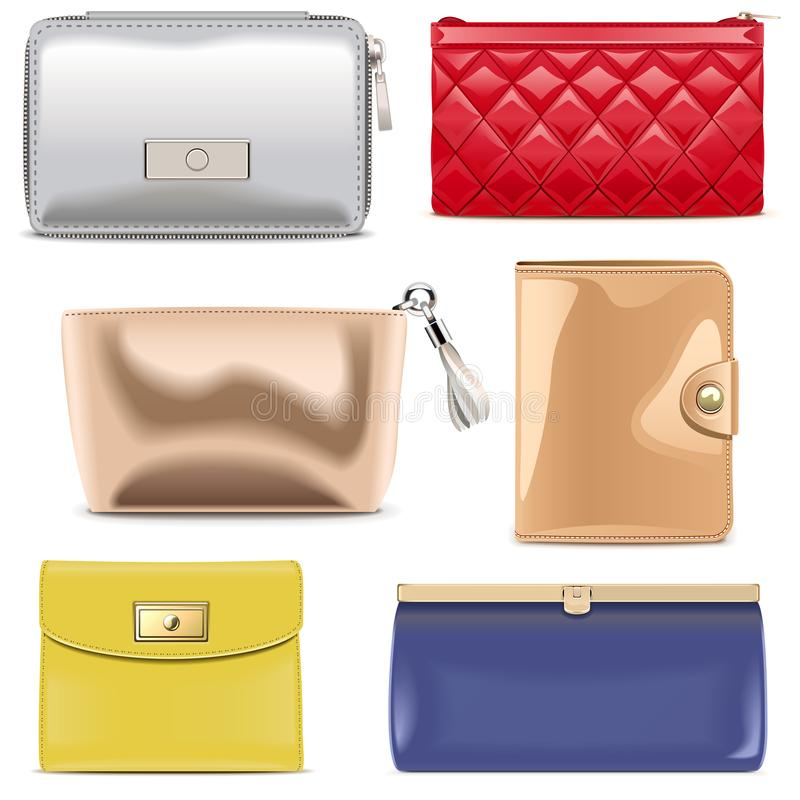 Vector Purse Icons royalty free illustration
