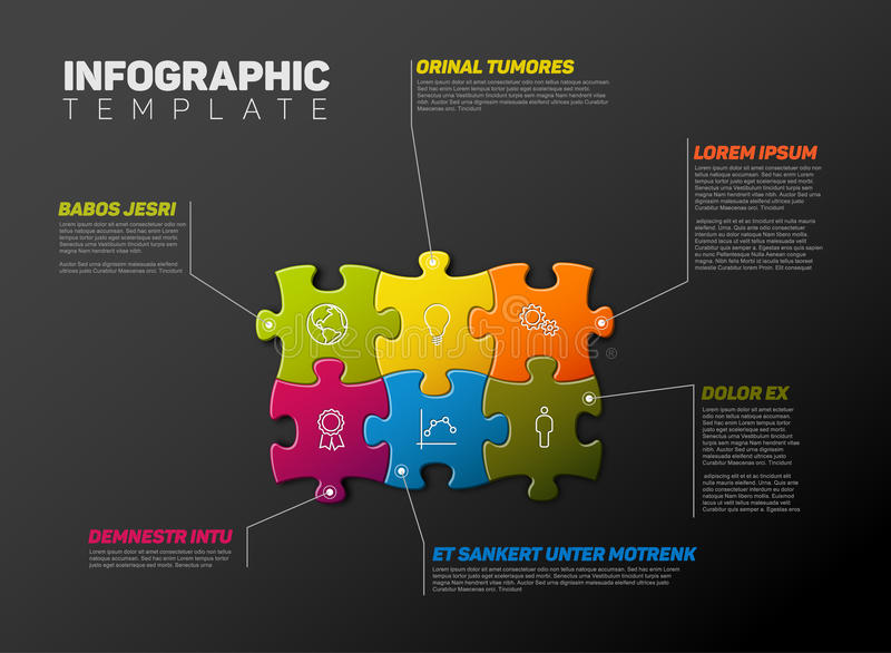 Vector Puzzle Infographic report template vector illustration