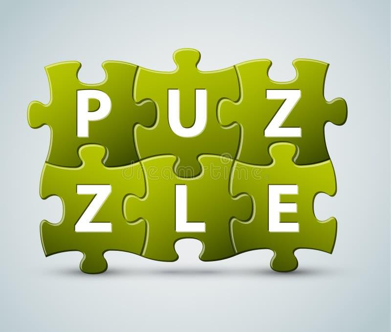 Vector Puzzlespielbeschriftung lizenzfreie abbildung