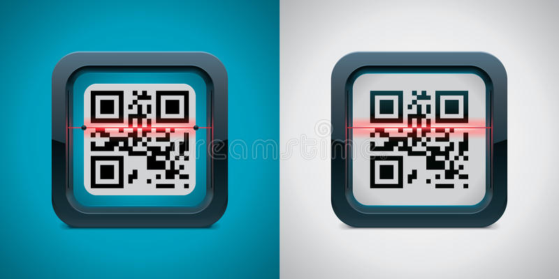 Vector QR code scanner icon stock illustration