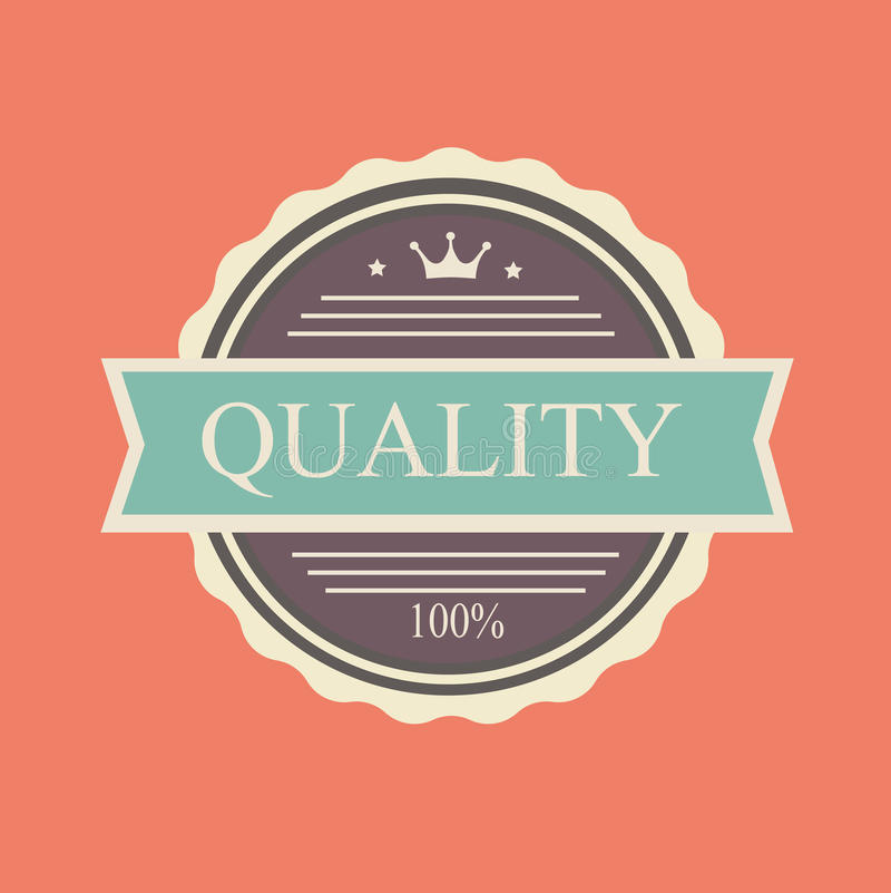 Vector quality stamp. Commercial in vintage style for business and design royalty free illustration