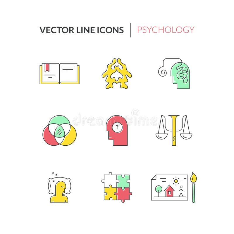 Vector que aconseja iconos ilustración del vector