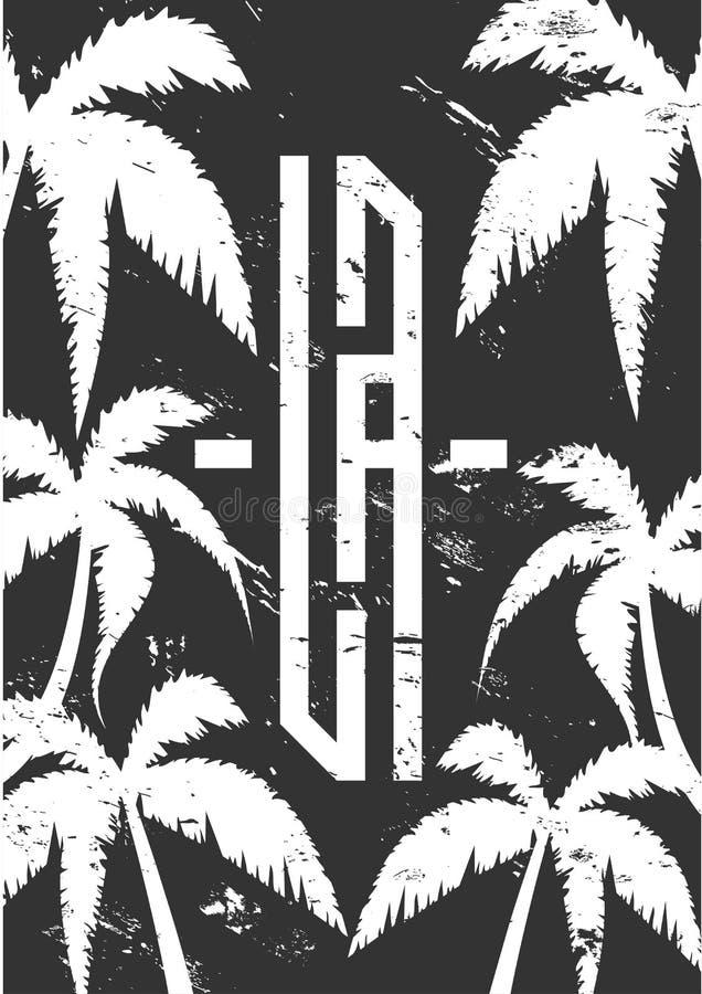 Vector que pone letras para la tarjeta, dise?o de Los Angeles de la impresi?n de la camiseta Cita de la tipografía para las camis libre illustration