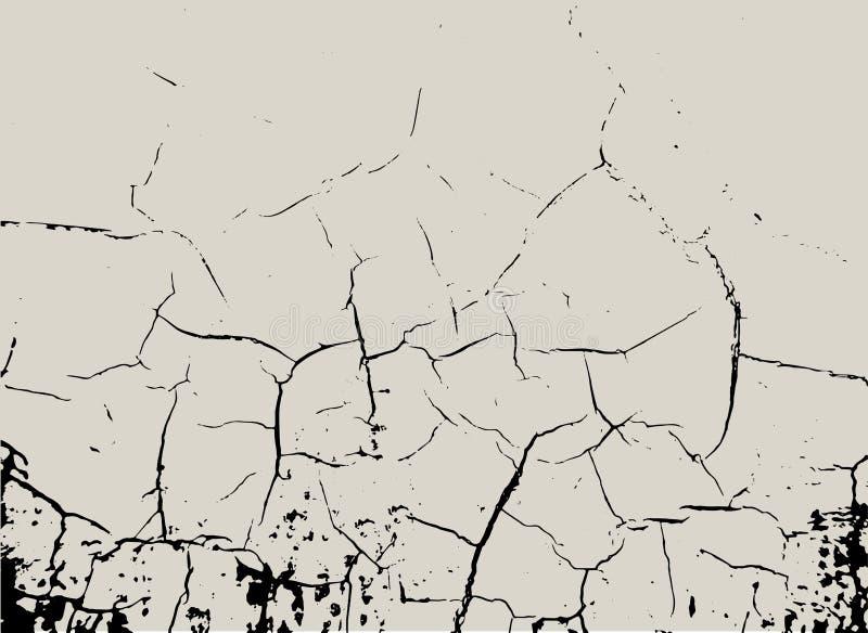 Vector quebras gráficas posterized da parede do grunge e distresed ilustração royalty free