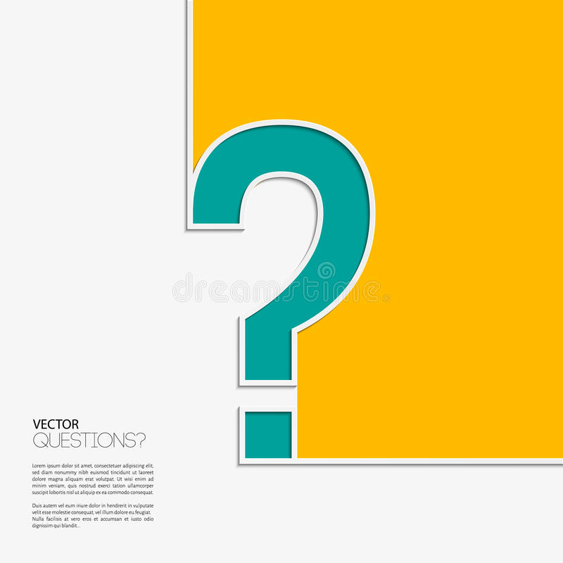 Vector question mark icon in flat design. vector illustration