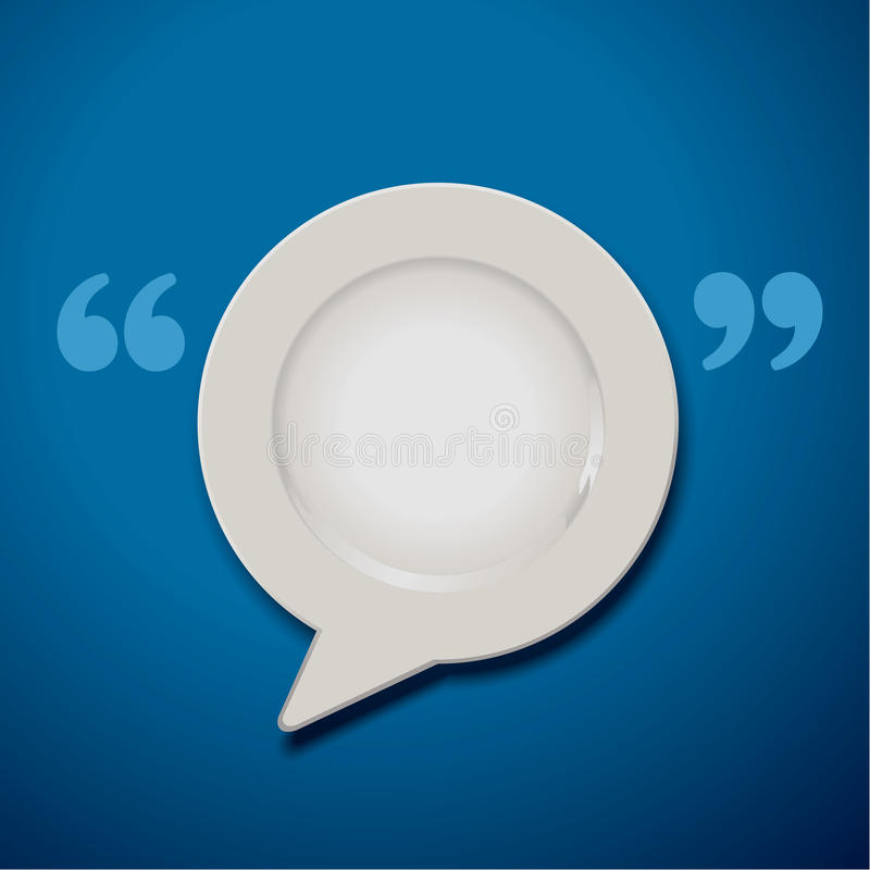Vector of Quotation Marks Speech Plate Icon royalty free illustration