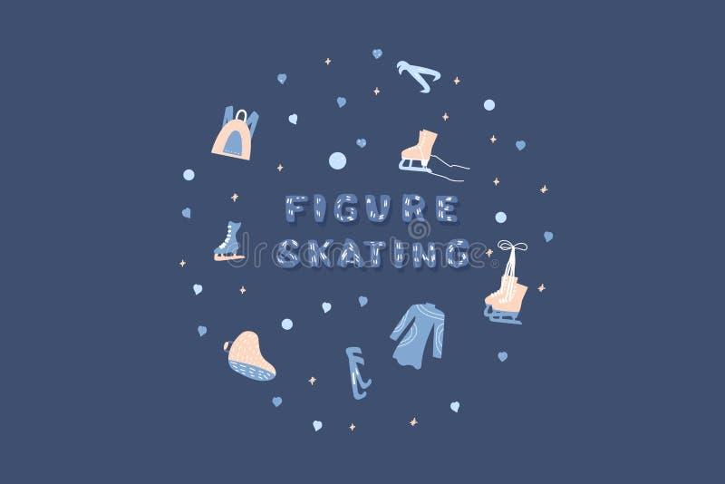 Vector quote. Figure skating emblem. vector illustration