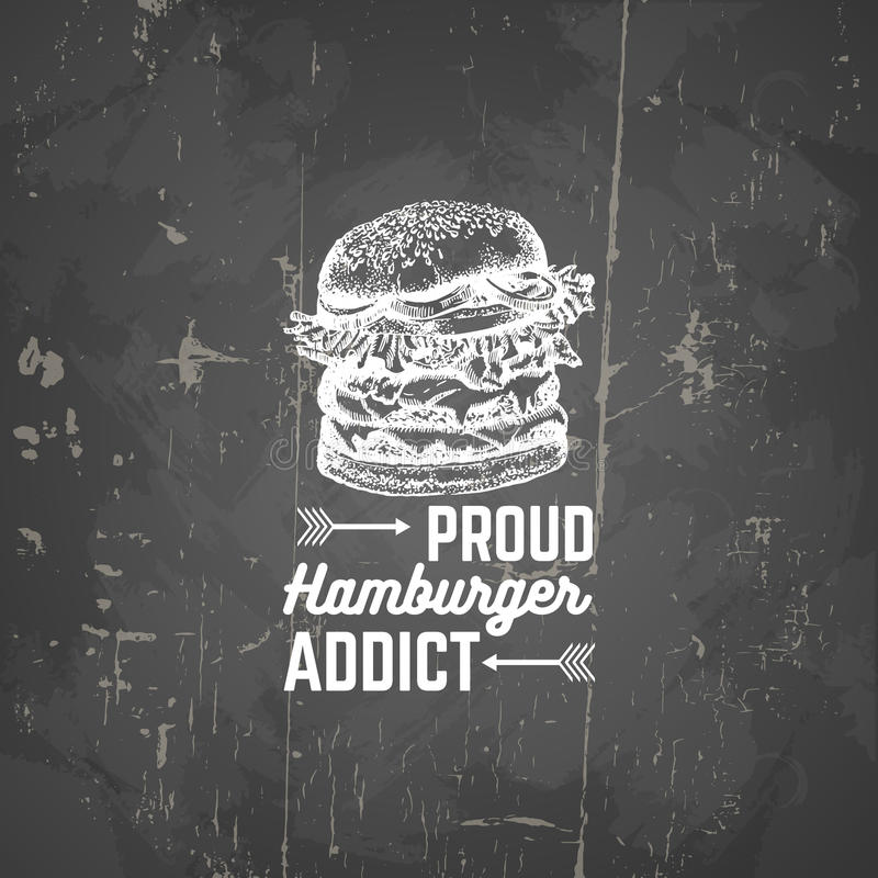 Vector quote typographical background about fast food. royalty free illustration