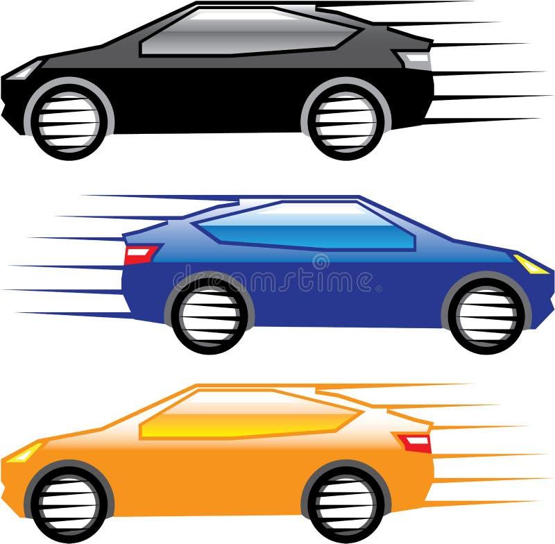 Vector rápido que va del coche ilustración del vector