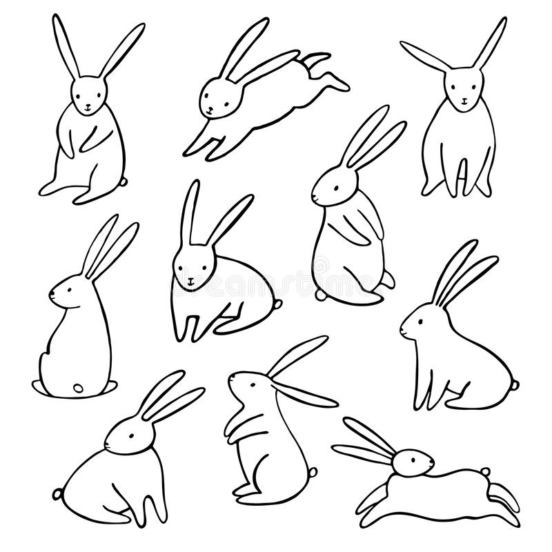 how to draw a simple hare