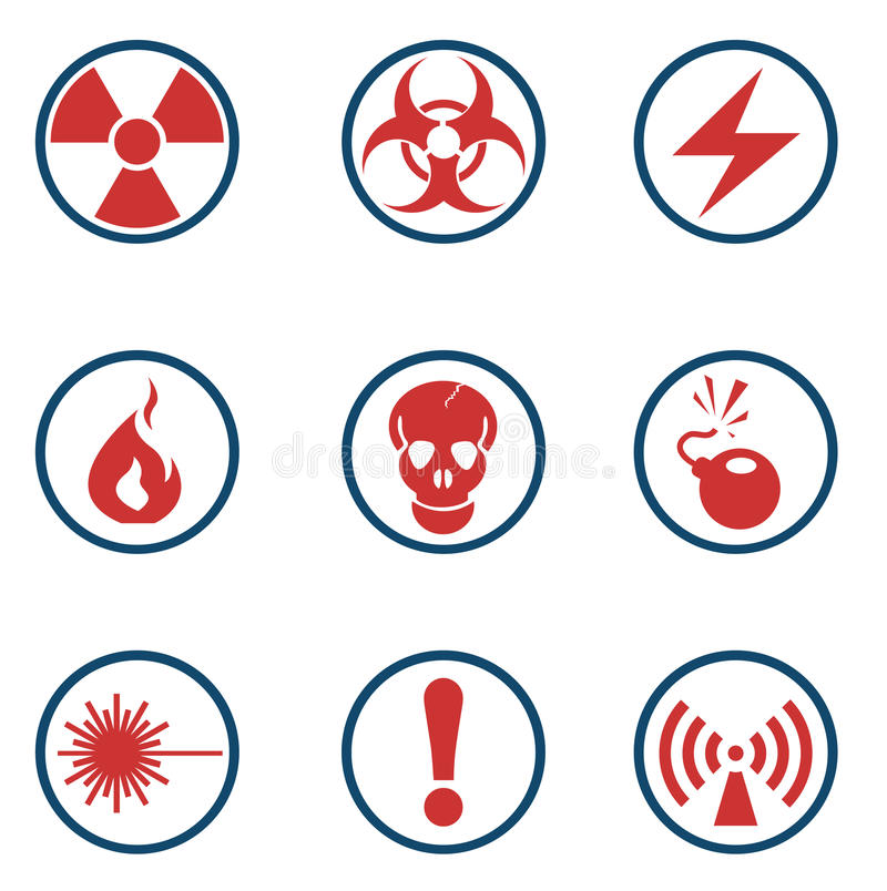 Vector radiation symbol icon. Hazard simply symbols for web and user interface vector illustration