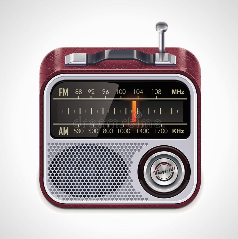 Vector radio XXL icon vector illustration