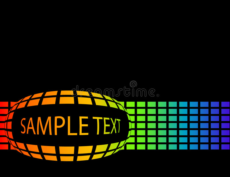 Download The Vector Rainbow Abstract Background With Text Stock Vector - Illustration: 8544402
