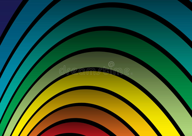 Vector rainbow arc. For party backgrounds royalty free illustration