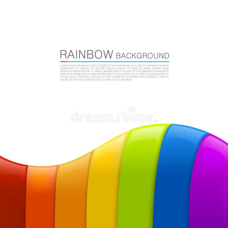 Vector rainbow background stock illustration
