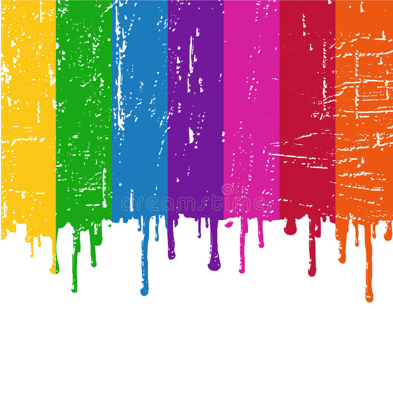Download Vector Rainbow paint stock vector. Image of paint, texture - 5466609