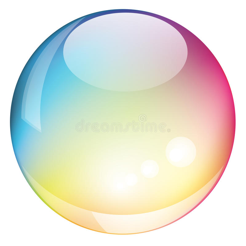 Vector rainbow sphere stock illustration