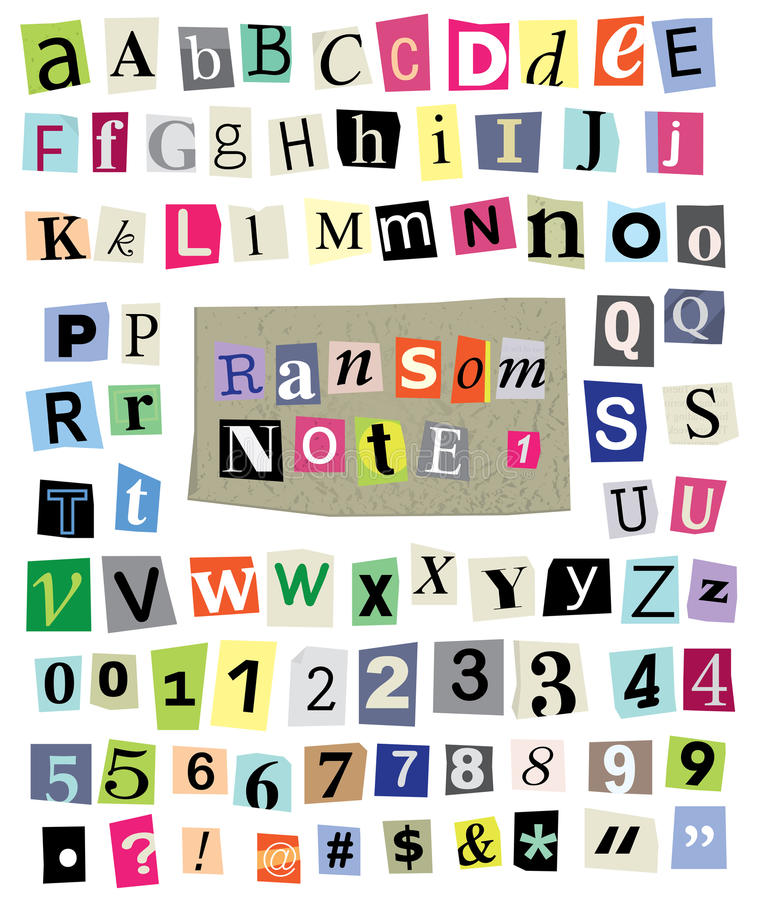 Ransom note letters clip art clipart vector design vector ransom note 1 cut paper letters numbers symbols stock rh dreamstime com ransom note font generator ransom notes stickers spiritdancerdesigns Gallery