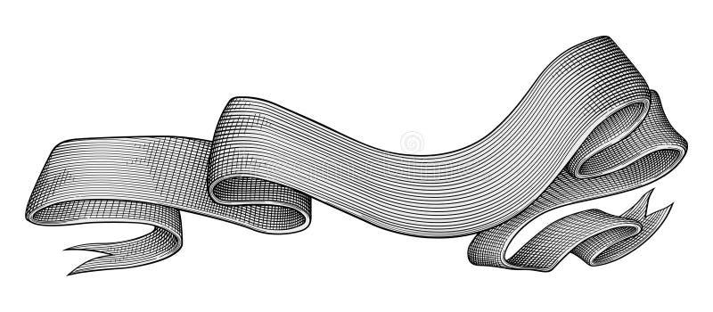 Vector real de la bandera stock de ilustración
