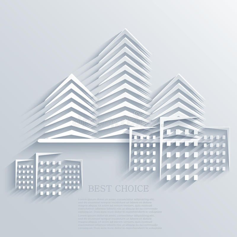 Vector real estate icon background. Eps10 royalty free illustration