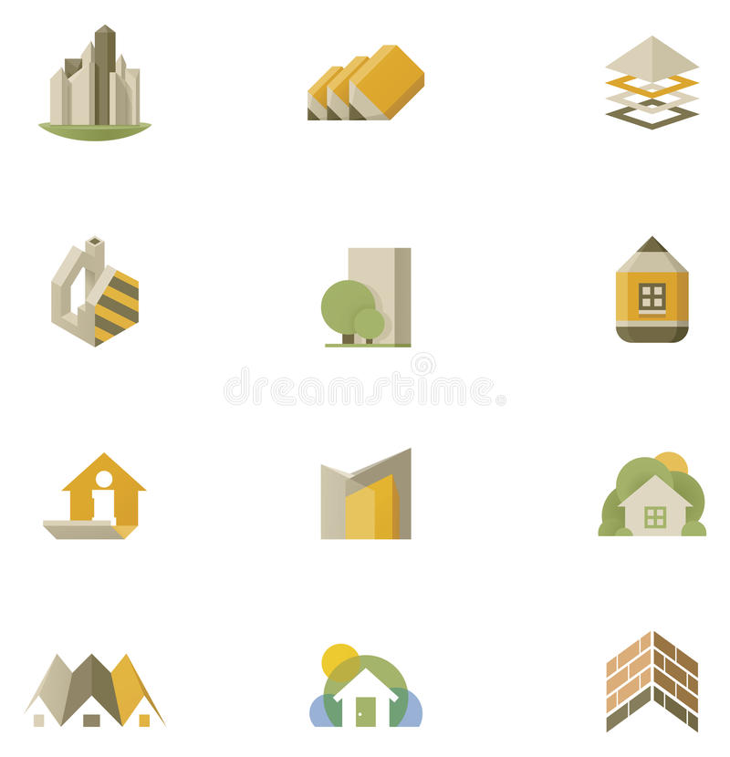 Vector real estate icon set royalty free illustration