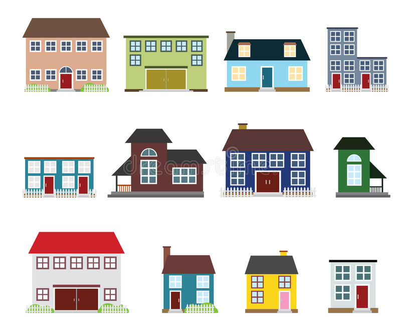 Vector real estate icons royalty free illustration