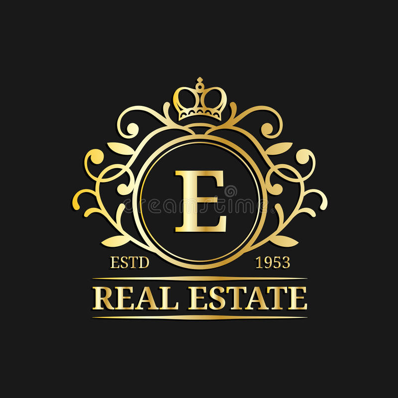 Vector real estate monogram logo templatexury letter design download vector real estate monogram logo templatexury letter designaceful vintage character with stopboris Images