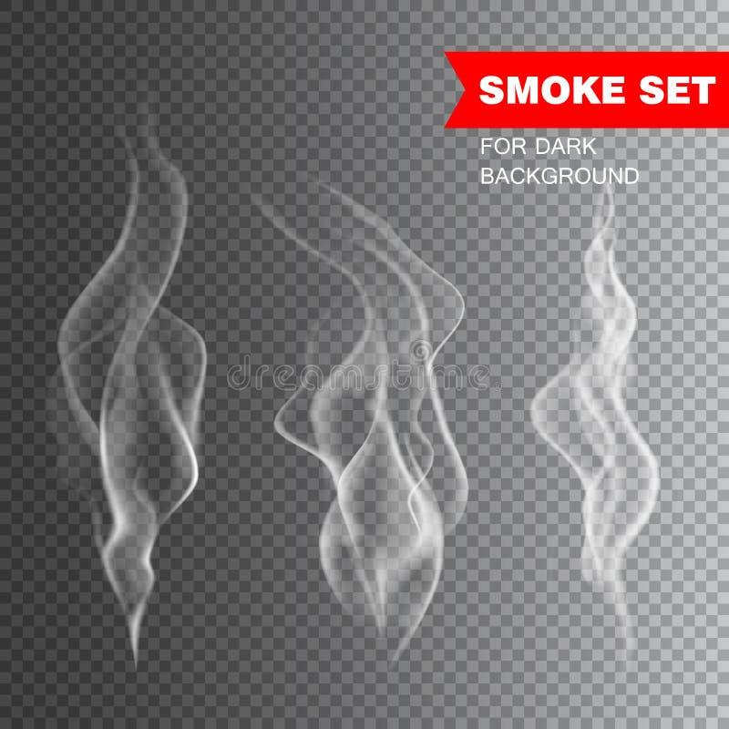 vector realista del humo del cigarrillo libre illustration