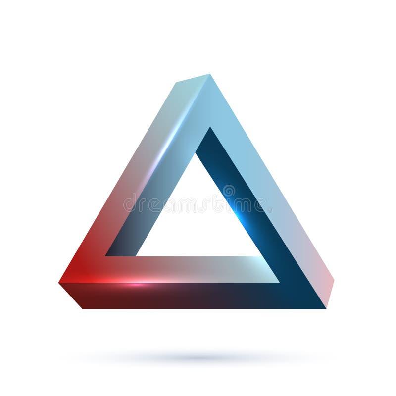 Vector realista imposible del objeto 3d de la geometría stock de ilustración