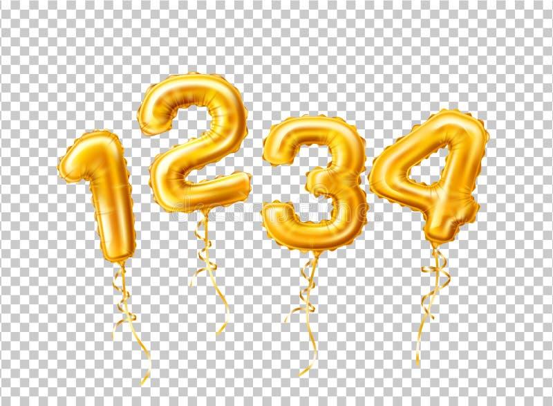 Vector 1 2 realistas número de 3 globos para un partido libre illustration