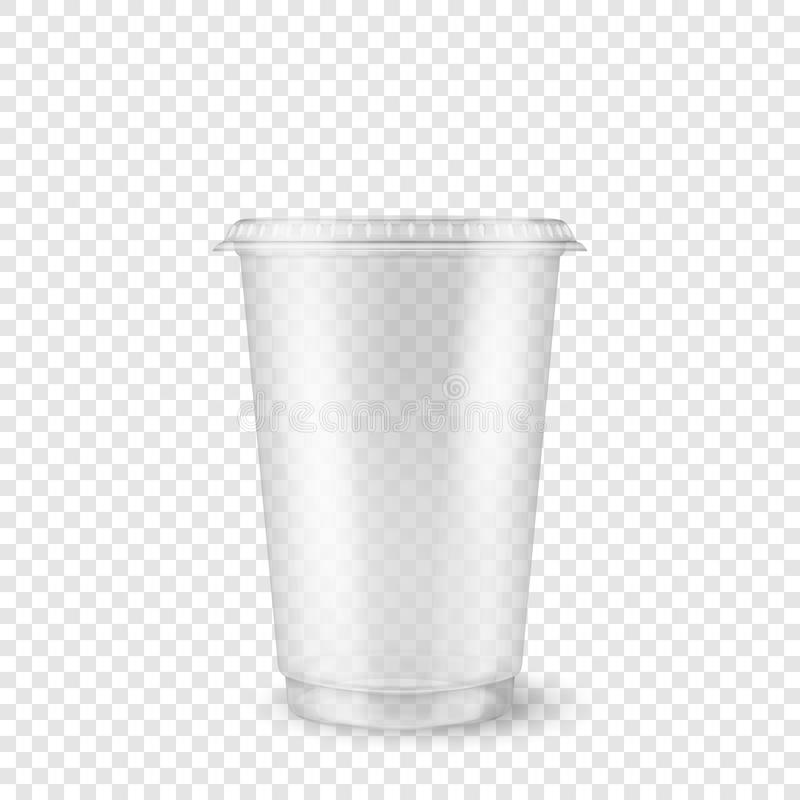 Free Vector Realistic 3d Empty Clear Plastic Disposable Cup Closeup Isolated On Transparency Grid Background. Design Template Royalty Free Stock Photo - 119186815