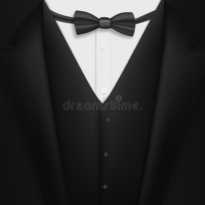 Vector Realistic Black Suit Photorealistic 3d Mens Elegant Tuxedo