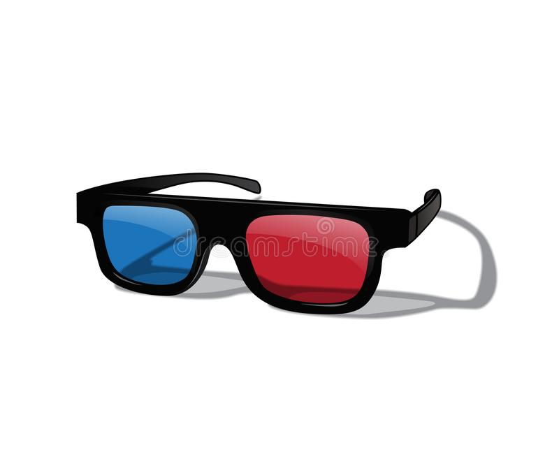 Vector realistic 3D glasses isolated on white background. royalty free illustration