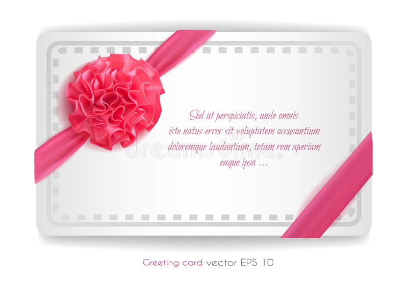 Vector realistic 3d pink silk ribbon with bow isolated. Vector realistic pink silk ribbon with bow. holiday present gift package. Sign of happy women`s day,8th vector illustration