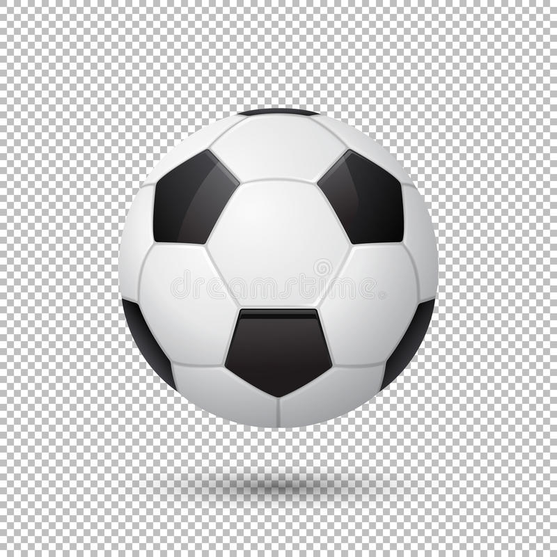 Vector Realistic Flying Soccer Ball Closeup On Transparent ...