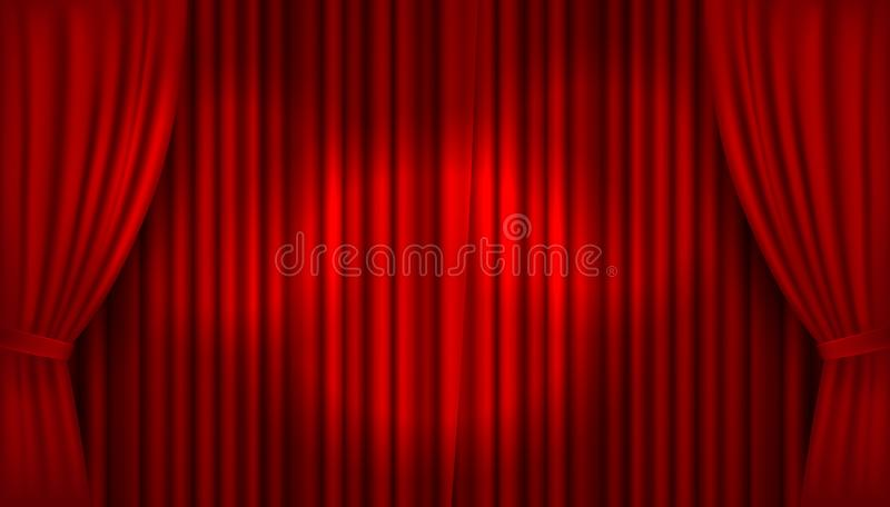 Set Red Velvet Curtains Theatre Stage Stock Vector (Royalty Free) 1361590793