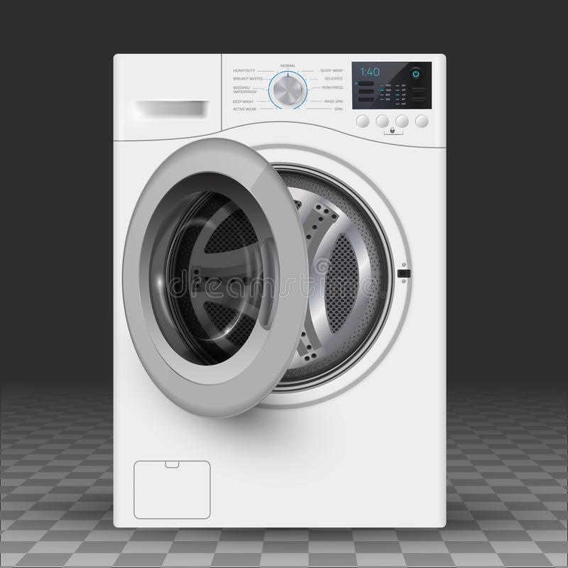 Vector relistic illustration of washer. Vector realistic illustration of washer. Front load royalty free illustration