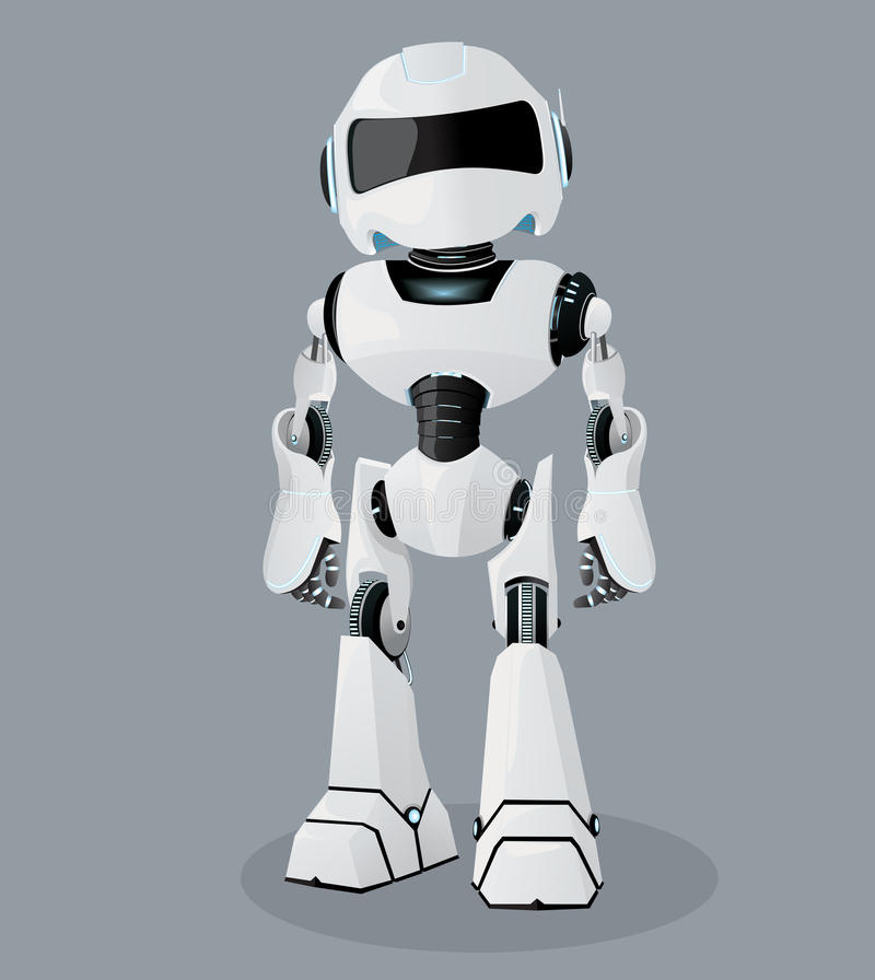 vector realistic illustration of the white robot vector robot rh dreamstime com robot factory robot factory adidas