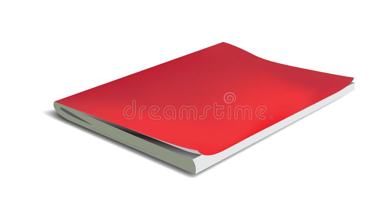 Vector realistic notebook isolated on a white background royalty free illustration