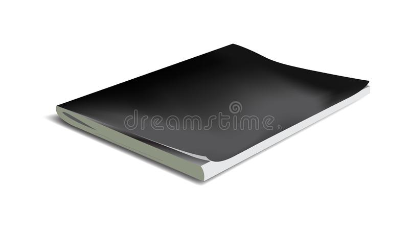 Vector realistic notebook isolated on a white background vector illustration