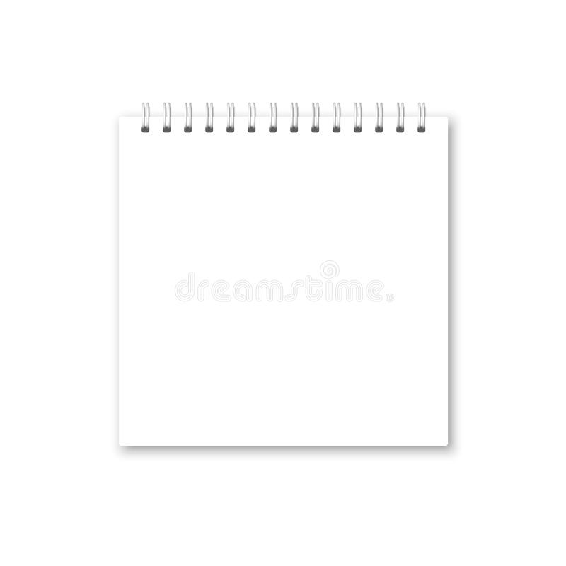 Vector Realistic Opened Notebook Cover. Stock Vector - Illustration ...