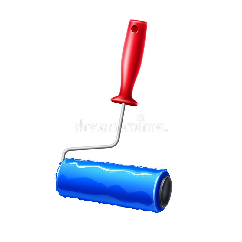 Free Vector Realistic Paint Roller Blue Liquid Paint Royalty Free Stock Photos - 155441398