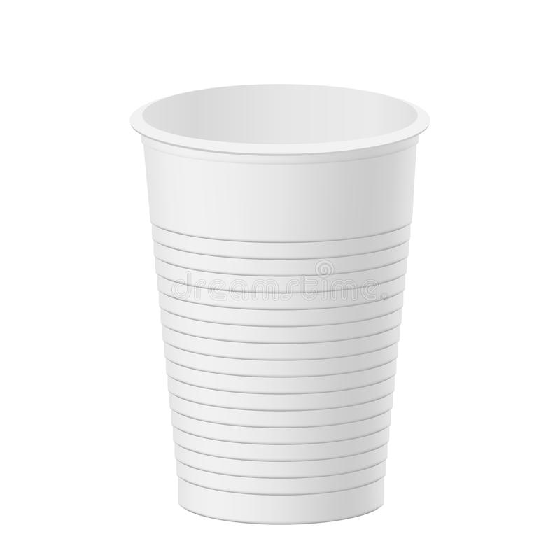 Vector realistic plastic cup. stock illustration