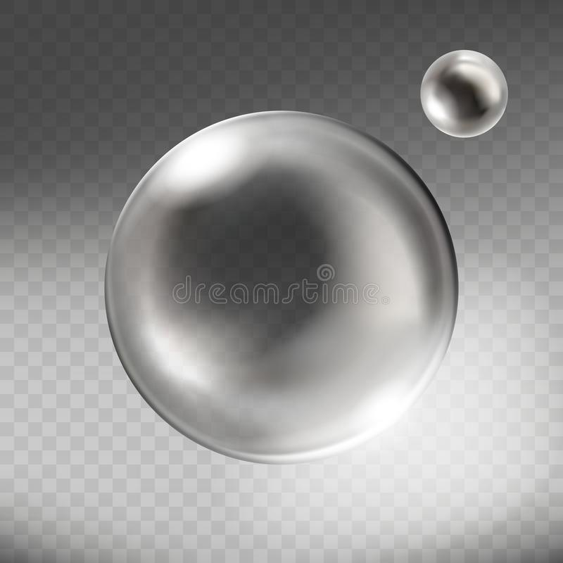 Free Vector Realistic Silver Glass Sphere Transparent Stock Photos - 107521873