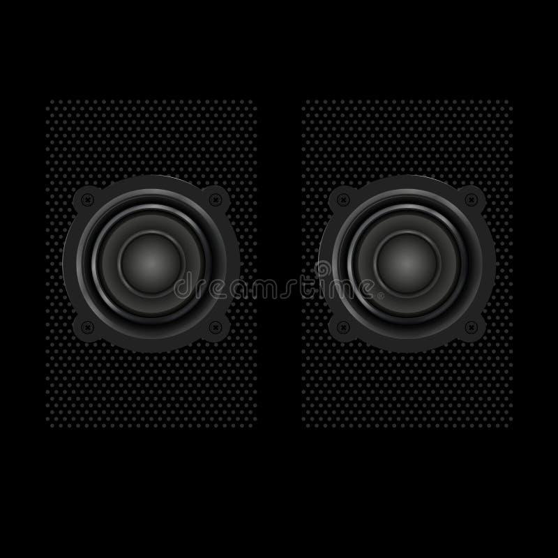 Vector Realistic Speakers. Vector Design Elements Set for You Design stock illustration