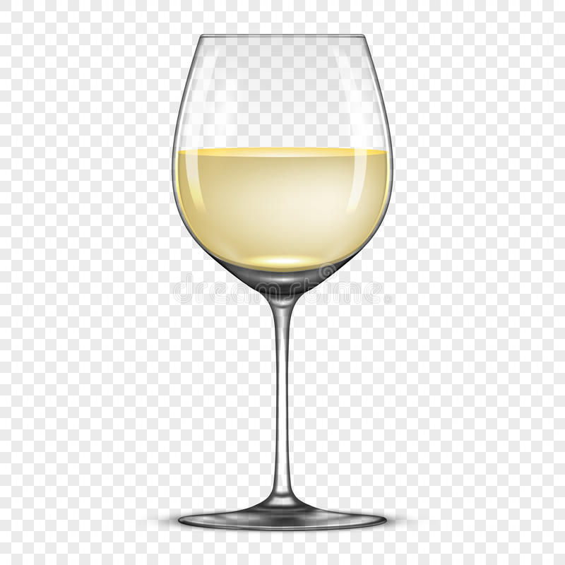 Vector realistic wineglass with white wine icon on for Cocktail 0 base de vin blanc